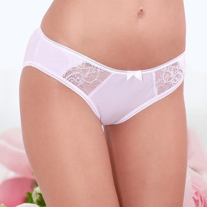 2017 Sexy Panties Unique Design Low-Rise Cotton Briefs Solid Color 95% Cottonintotham-intotham