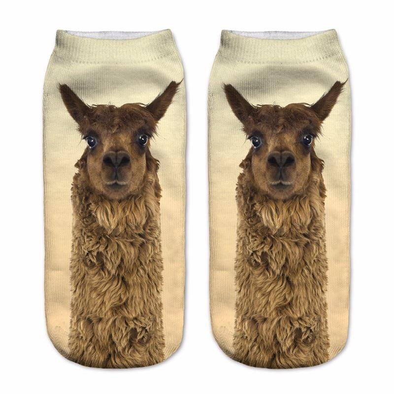 Fashion 3D Socks For Women Men Brown Alpaca Charactor Hot Item Highintotham-intotham