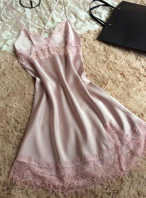 sexy women nightgowns free shipping 2016 silk nightwear for female tempatation miniintotham-intotham