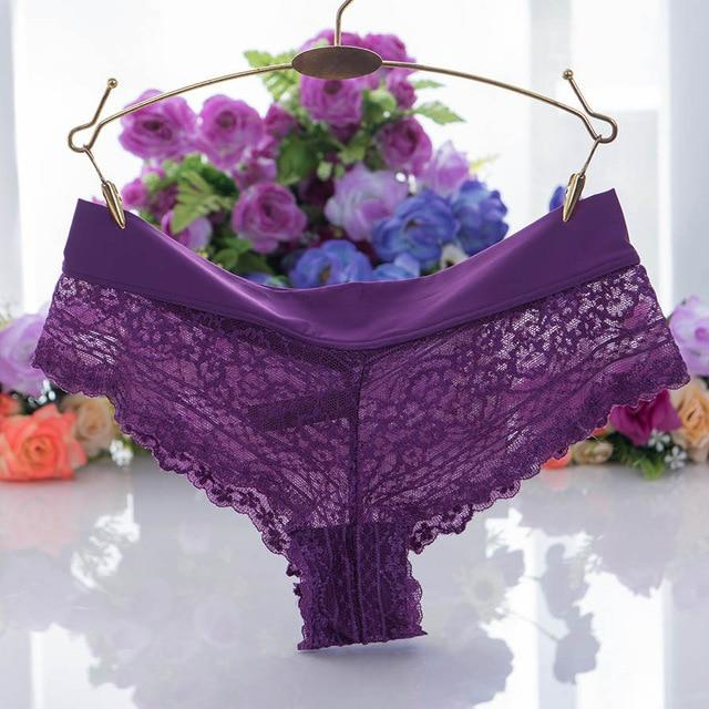 Sexy Underpants Women Boxer Shorts Lace Panties Boyshort Female Knickers Full Laceintotham-intotham