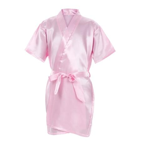 Fashion Kids Flower Girl Wedding Party Robes Satin NightGown Monogrammed Silkintotham-intotham