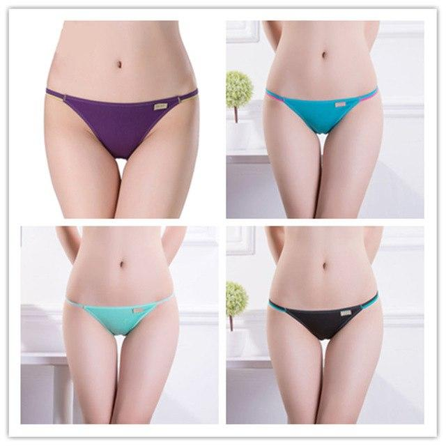 4 pcs Hot Sale! Solid Modal Fiber Sexy Women's Panties Underwear Everyintotham-intotham