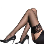 Women Sheer Sexy Stockings Lace Top Thigh High Stockings Over The Kneeintotham-intotham