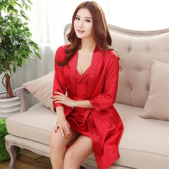 Brand New Long Robe Satin Rayon Bathrobe For Women Kimono Sleepwear Sizeintotham-intotham
