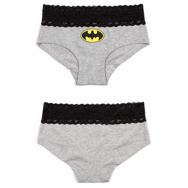 New 2 styles Sexy Women's Lace Batman Underwear Panties Boxer Briefs Knickersintotham-intotham
