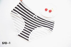 SP&CITY 1PCS Classic Striped Cotton Lace Panties Ruffle Young Girls Student Pantiesintotham-intotham