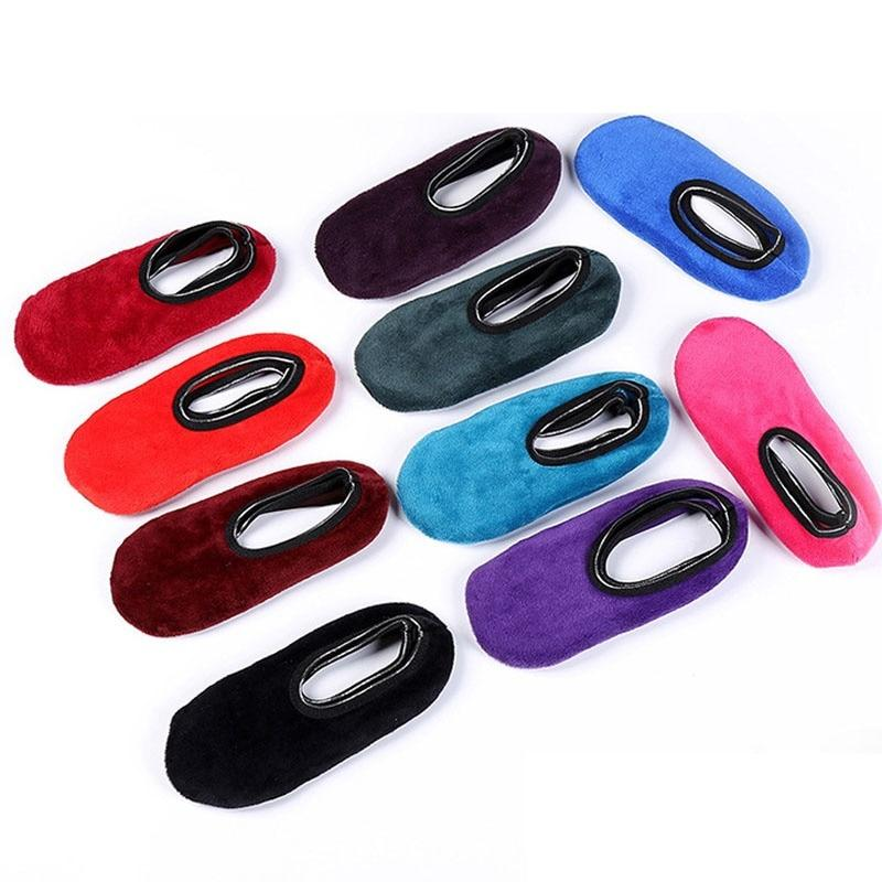 1 pair New Arrival Autumn Winter Parents Velvet Indoor Floor Socks Thickenintotham-intotham