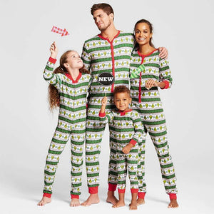 New 2017 Christmas Striped Family Matching Christmas Pajamas Set Women Kid Adultintotham-intotham