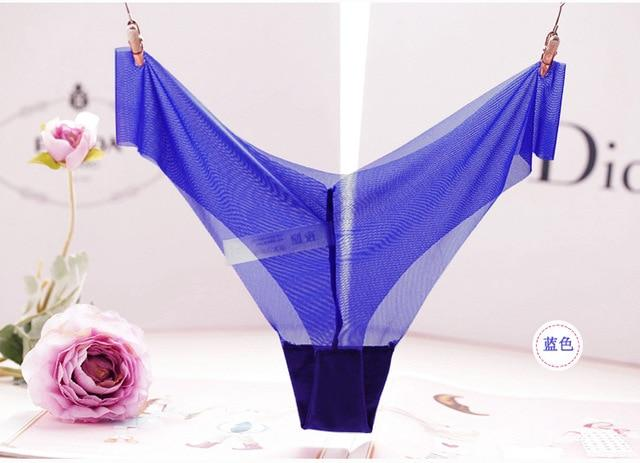 Newest Sexy Panties women Underwear Super transparent Seamless Thong Woman g Stringintotham-intotham
