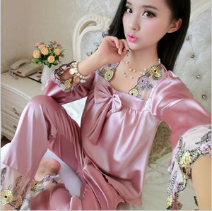 Satin Pajamas Silk Pajamas For Women Pajama Sets Pyjamas Women Pijamas Mujerintotham-intotham