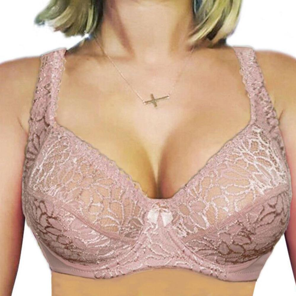 Large Size Bras For Women Flower-Dotted Unlined Underwire Bra Sexy Women Underwearintotham-intotham