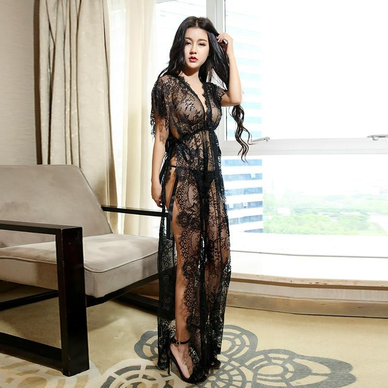 2017 new sexy lingerie temptation summer women suit sexy see through laceintotham-intotham
