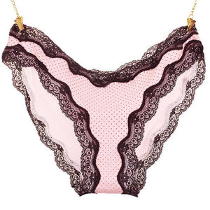 Charming Women Lace Briefs Lady Love Sexy Pink Heart Panties Women's Lowintotham-intotham
