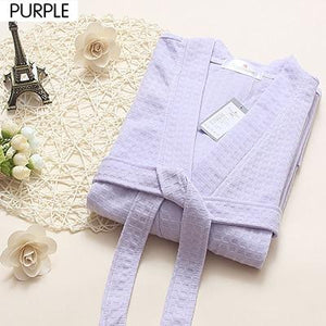 Lovers Summer Fashion Waffle Bathrobe Women Suck Water Kimono Bath Robeintotham-intotham