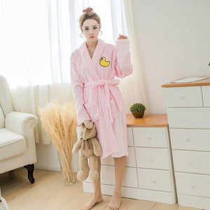 Girl's Bathrobe Thick Winter Flannel Robe Set Cute Totoro Character Animal Nightgownintotham-intotham