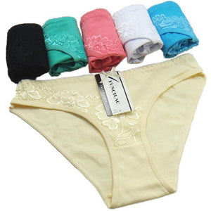 5 pcs/lot Woman Underwear Women's Panties Sexy Cotton Lace Briefs Ladiesintotham-intotham