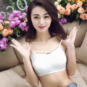 New Women Bras Fashion Girls Bralette Crop Top Cotton Lace lined intotham-intotham
