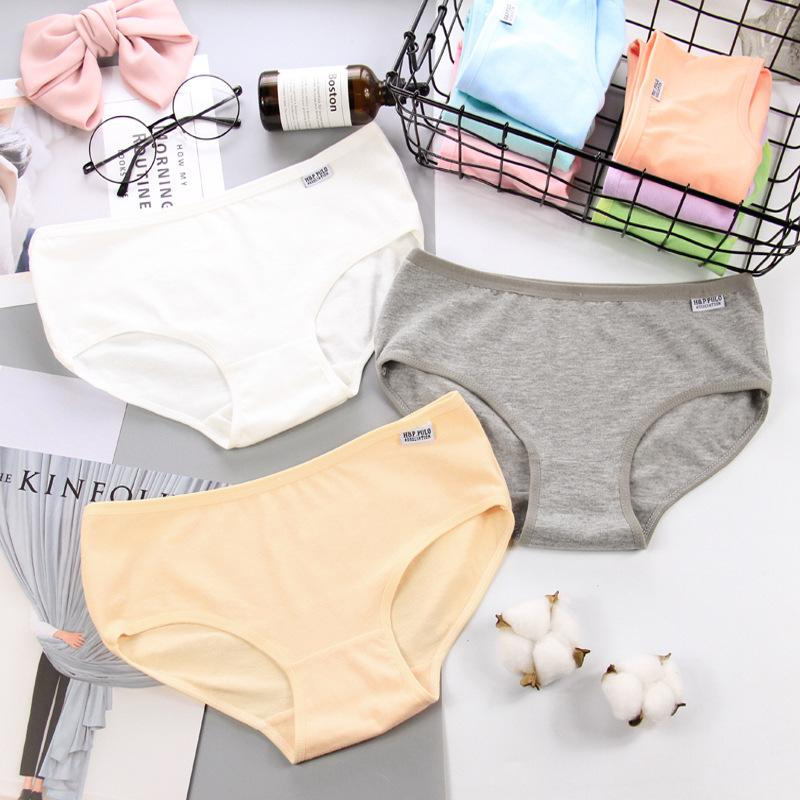 Classic Solid Cotton Seamless Briefs Soft Women Underwear Sexy Lingerie Colorfulintotham-intotham
