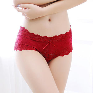 2018 Lace Women Underwear Low Waist Buttock Temptation Water Soluble Jacquard Seamlessintotham-intotham