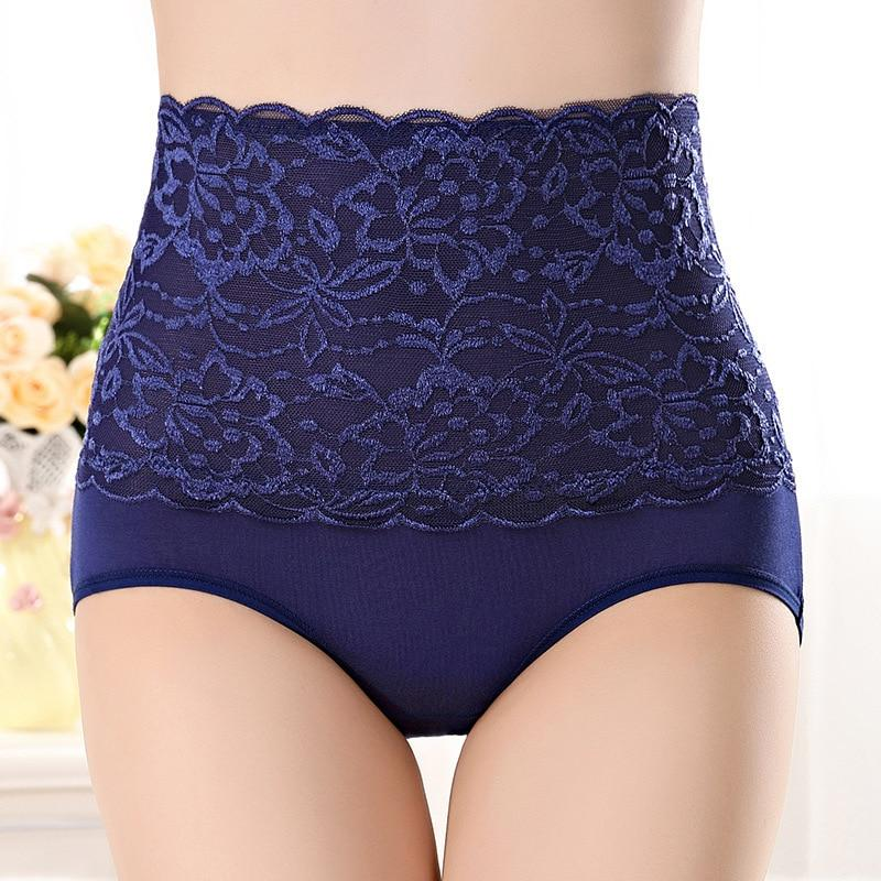 HW4 High Waist Women's Lace Underwear Briefs Female Sexy Seamless Breathable Comfortableintotham-intotham