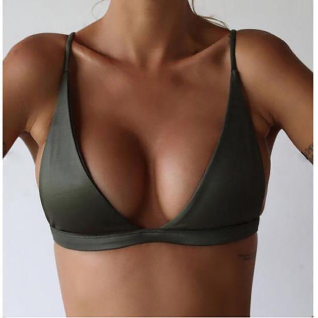 2018 Women Sexy Bikini Tops Bra 3/4 Wire Free Adjusted-straps Summer Beachwearintotham-intotham