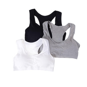1PC Wireless Underwear Cotton Classic Vest Bra Breathable Young Girl Bra Forintotham-intotham