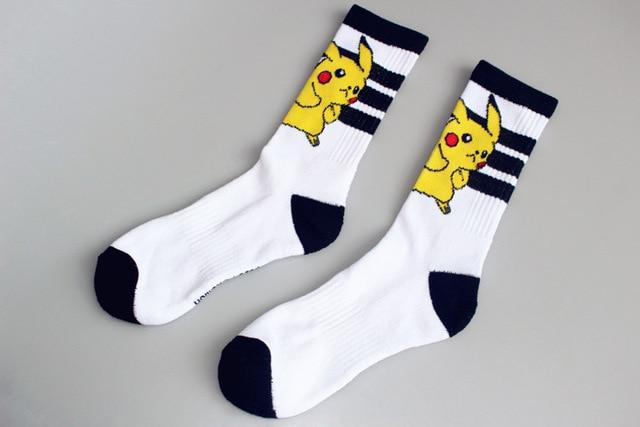 New Pokemon Pikachu Cotton Jacquard Socks Perfect Quality Clothing Fun Novelty Harajukuintotham-intotham