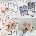 new women socks 2 pairs cartoon floor socks thick warm color cuteintotham-intotham