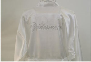 RBB S-3XL Long Style Rhinestone Letter Bride Bridesmaid Morning Robes Bridal Partyintotham-intotham