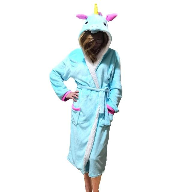 Unisex Animal Sleepwear Robe Sleep Cute Nightgown unicorn Stich night robe Bathrobeintotham-intotham