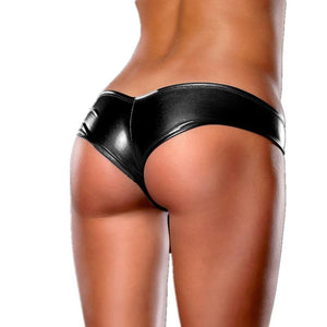 Briefs Women Metallic Leather Sexy Panties Plus Size Feminino 4XL 5XL 6XLintotham-intotham