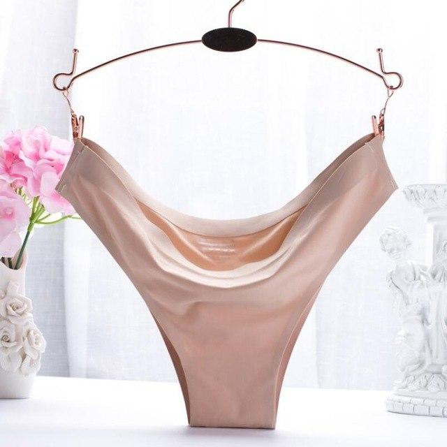 Women Sexy Low-Rise G-string Lingerie Panties Female Thongs Seamless T-back Briefs intotham-intotham