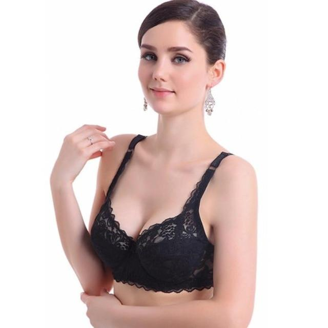 Support underwear women push up bra plus size lingerie padded bra seeintotham-intotham