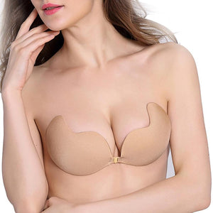 Fly Bra Strapless Silicone Push Up Invisible Bra Self Adhesive Backless Braletteintotham-intotham