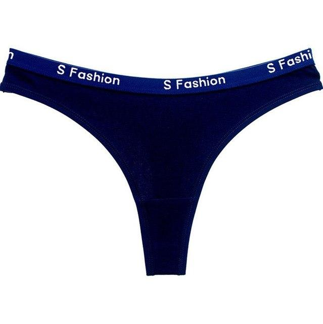 Letters Printed Women Cotton Thongs And G Strings Femme String Calcinha Lingerieintotham-intotham