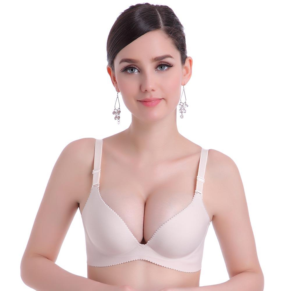 Women Push up Bra Solid Seamless Bra Wire Free Bras for Womenintotham-intotham