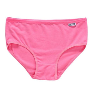 1PCS EY Womens Girls Cotton Underwear Brief Solid Panties Breathable Underpants Lintotham-intotham