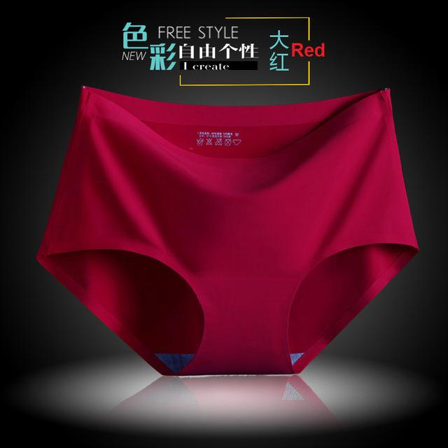 New Women's Panties ice briefs silk Cool and refreshing seamless underwear triangleintotham-intotham