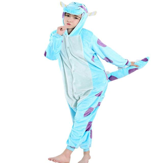 2018 Flannel Animal Pajamas Sets Women Men Adults onesies unicorn Panda Stitchintotham-intotham