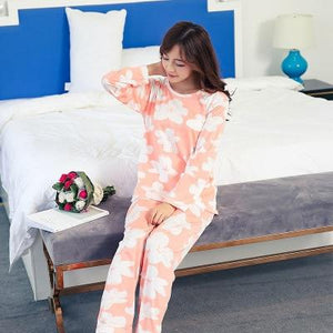 Wholesale autumn new Pajamas Sets For Women long Sleeve Cartoon printed Cuteintotham-intotham