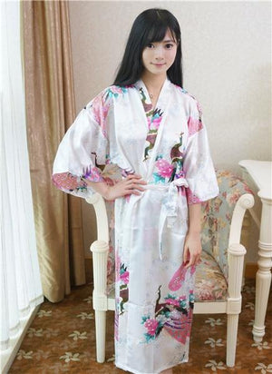 Sexy Gray Lady Summer Causal Robe Long Bathrobe Gown Women's Satin Nightgownintotham-intotham