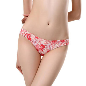 Womens Sexy Breathable Seamless Lingerie low-Rise Ladies Print Hollow Brief Knicker G-stringintotham-intotham
