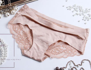 New Fashion Women Underwear Sexy Seamless Soft Comfortable Briefs Short Laceintotham-intotham