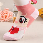 New Style Woman Girl Spring Autumn Cute Boat Socks Cotton Cartoon Sailorintotham-intotham