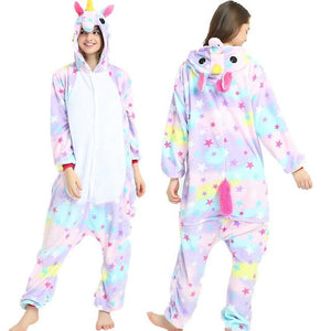 Warm Animal Pajamas Sets Adults pijama unicornio Stitch Women Men Winter Sleepwearintotham-intotham