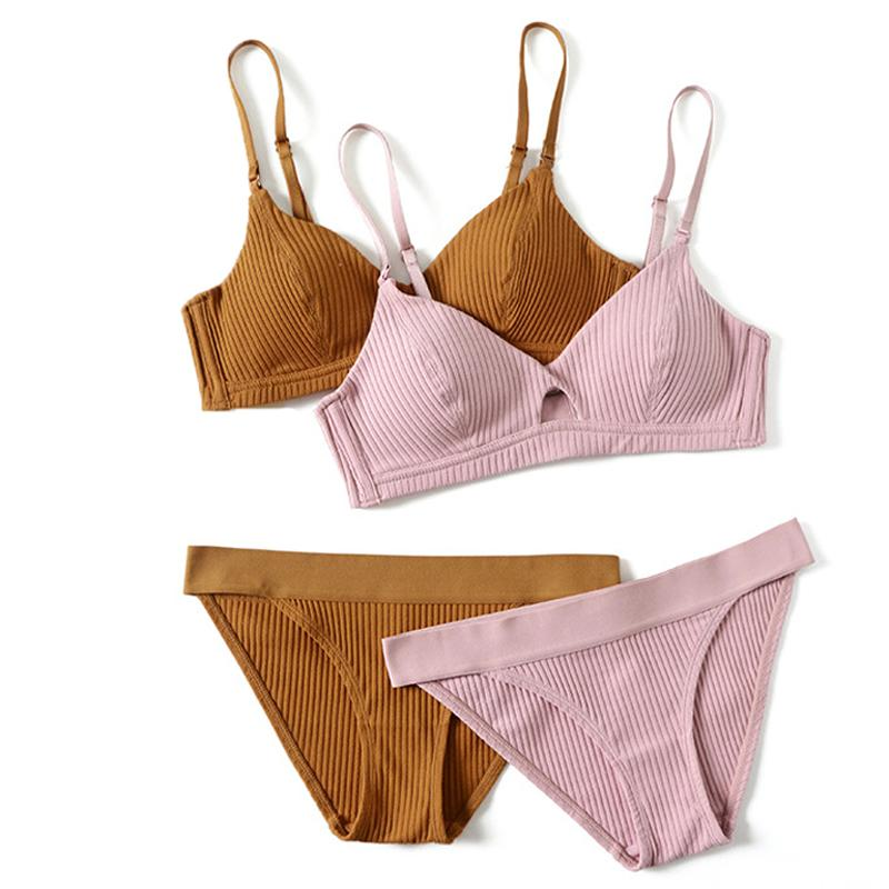 2018 High-end Brand Romantic Temptation Bra Set Women Fashion Stripes Underwearintotham-intotham