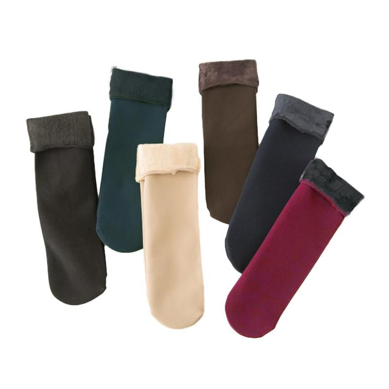 Women's Autumn And Winter Socks Velvet Thickening Socks Casual Home Floor Winterintotham-intotham