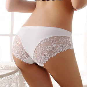 Seamless Mid-Rise women's sexy lace lady panties seamless ice silk breathable pantyintotham-intotham