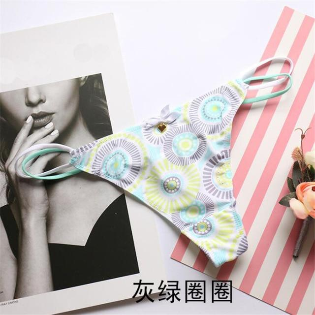 New arrival cotton briefs women thongs and g strings solid white blackintotham-intotham