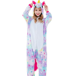 Adult Unicorn Pajama Sets Cartoon Women Men Sleepwear Children Pajama Unicorn Pajamasintotham-intotham